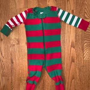 Hanna Andersson Christmas pajamas red green stripe